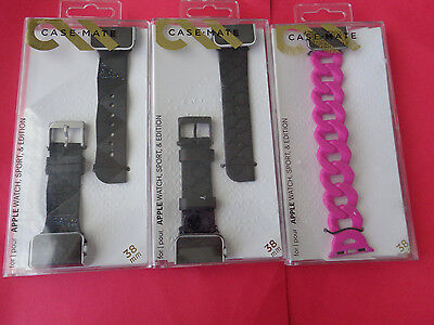 Case-Mate Smartwatch Band for Apple Watch 38mm LOT OF 3