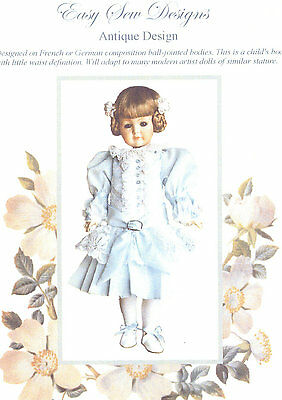 Antique Design Dress Pleated Skirt Doll Pattern 23 to 24 Inch BHD 58