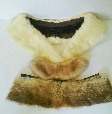 Vintage Fur Collars Collar Rabbit & Mink Fur Collar LOT