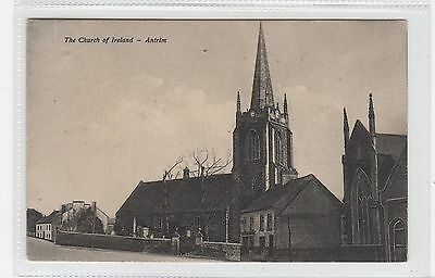 THE CHURCH OF IRELAND, ANTRIM: Co Antrim Northern Ireland postcard (C25897)