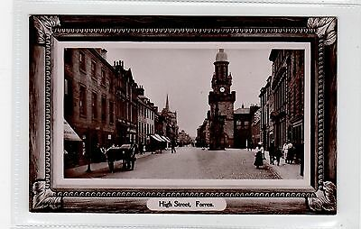 HIGH STREET, FORRES: Morayshire postcard (C25811)