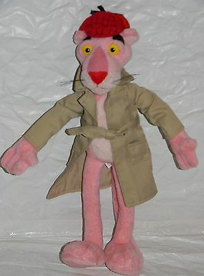"""**The Pink Panther Posable Stuffed Plush Kids Doll Animal Toy Inspector Coat 13"""""""
