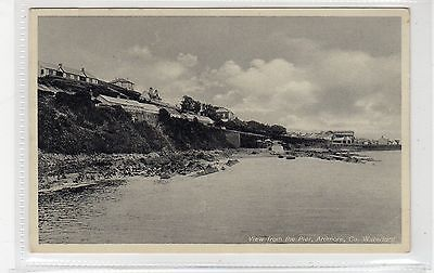 VIEW FROM THE PIER, ARDMORE: Co Waterford Ireland postcard (C25744)