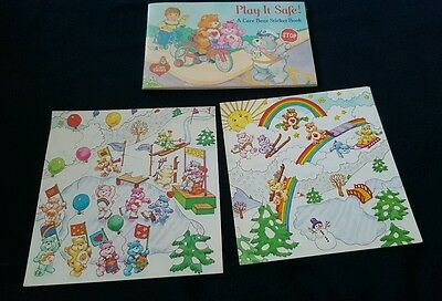 1984 New Unused Care Bears Sticker Book with 2 Pictures Vintage