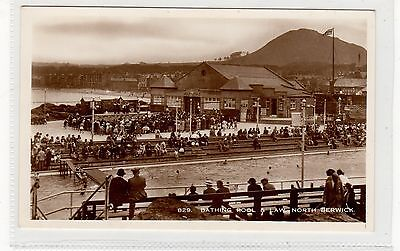 BATHING POOL & LAW, NORTH BERWICK: East Lothian postcard (C25819)
