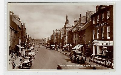 HIGH STREET LOOKING WEST, DUNBAR: East Lothian postcard (C25883)