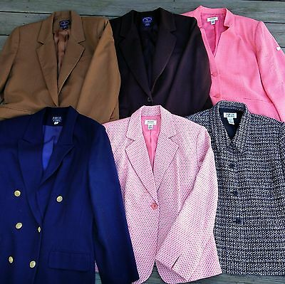 Bundle of 6 Women's Jackets and Blazers, size 14-16, Talbots, Style & Co.