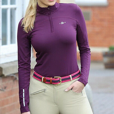 **NEW** Shires Ladies 'Beijing' Base Layer Top (Plum/Red available)