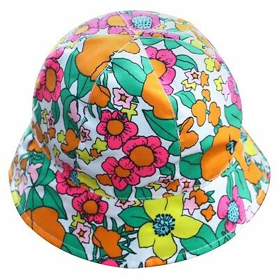 Circo Reversable Toddler Girls' Floral and Polka dot Sun hat - size 2T-5T