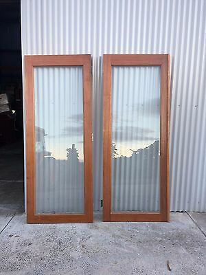 Double Glass Doors with Solid Hardwood Frame