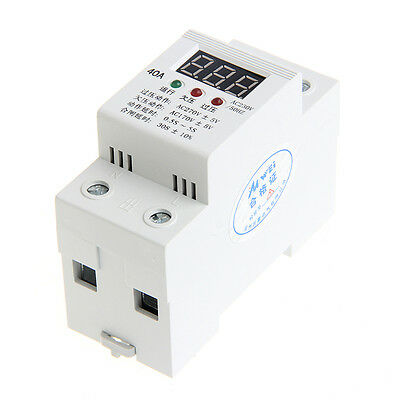 Led Display Automatic Reconnect Over Under Voltage Protection Relay Voltmeter