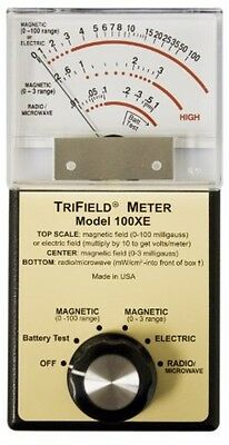 Trifield 100XE EMF Meter AC Magnetic Electric Fields Radio Microwaves Detector
