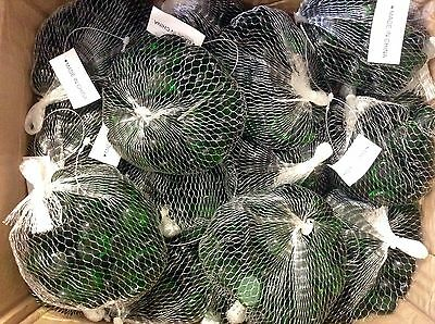 BULK LOT FLAT GLASS MARBLES 15bags X 300gm Meshed Bag  NEW
