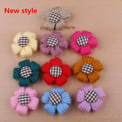10PCS Flower Pet Dog Hair Bows rubber bands Accessories Grooming puppy rope