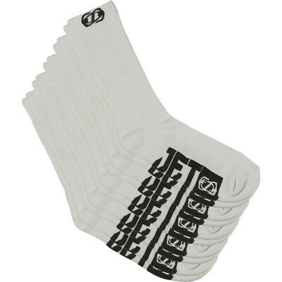 Jetpilot NEW Mx Corp Adults Mens White Grey OSFM Casual Moto Crew Socks 5 Pack