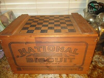 Vintage National Biscuit Company Nabisco Large Wooden Box With Handles Must See