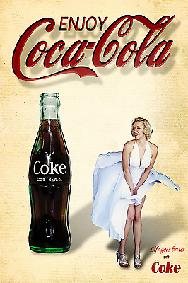 "Coca Cola Pin Up Girl Poster 12""x18"" (#6)"