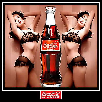 "Coca Cola Pin Up Girl Poster 12""x12"""