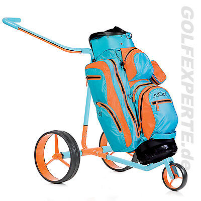 Jucad Golf Gt Aus Carbon Elektro-Trolley / Elektrocaddy / E-Trolley Mit Bag