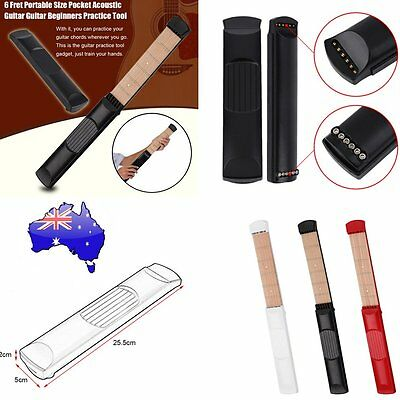 6 Fret Portable Size Pocket Acoustic Guitar Guitar Beginners Practice Tool KS