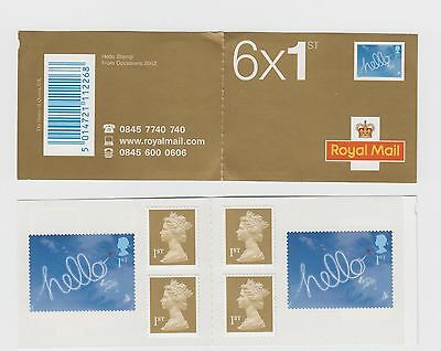 Gb 2003 Occasions Greetings Stamps Self Adhesive Booklet Pm8