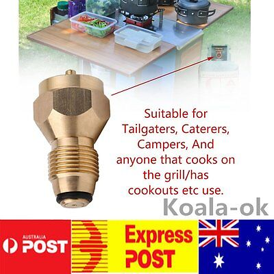Outdoor Camping Stove Refill Adapter Gas BBQ Cooking Propane Regulator Valve KM