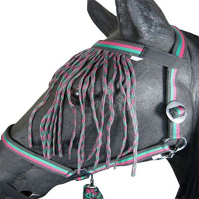 Pony Cob Horse Headcollar With Fly Fringe Veil & Lead Rope Set New Halter Sale!