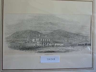94348-GB-UK-Great Britain-Abergele Station Wales-T Holzstich-Wood engraving