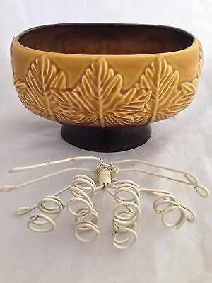 SylvaC 4207 'Sycamore' Posy Bowl with metal / wire frog and label
