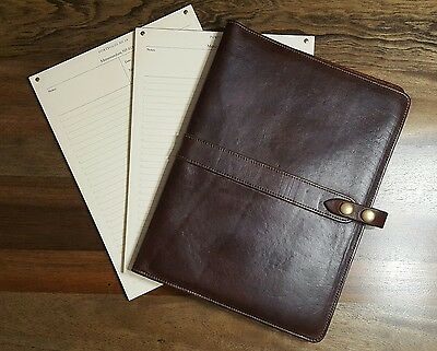 Colonel Littleton No. 18 Leather Portfolio for Tablets w/ Notepad Refills