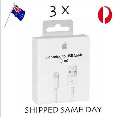 3 x Apple Charging Cord Lightning Data Cable Charger for iPhone 5 S C 6 7 iPad