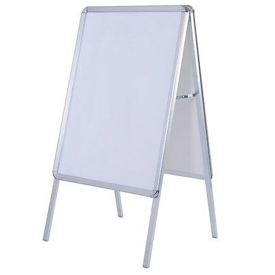 A-Frame Display Snap Board Poster Stand Holder Street Business Portable NEW