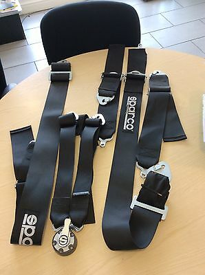 Used Sparco 04837RHNR Competition Racing 6-Point HANS Harness