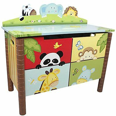 Fantasy Fields by Teamson Sunny Safari Childrens Large Wooden Storage Kids Toy B