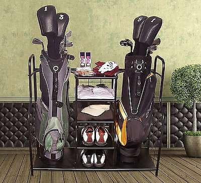Golf Bag Organizer Holder Storage Rack Clubs Putter Shoes Garage Accessories New
