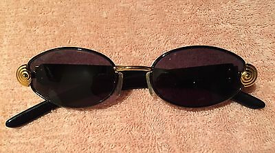 Vintage Rare Gianfranco Ferre GFF270/S Black Sunglasses with gold embellishment