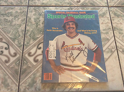Keith Hernandez Autographed 1980 Sports Illustrated/cardinals,mets