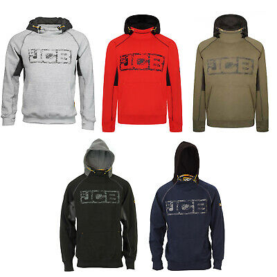 JCB Horton Hoodie Black/Grey/Navy/Sand Workwear Tough Hooded Jumper Men's Hoody