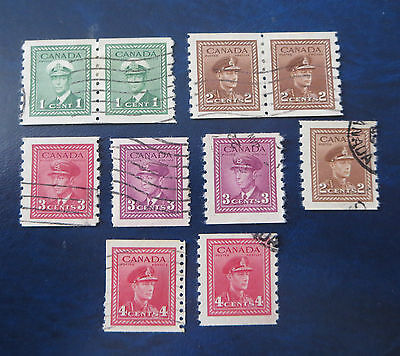 Canada Stamps--- Used Lot Of King George War Issue Coils