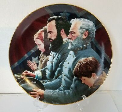 "Civil War Collector Plate Danbury Mint ""The Generals were Brought to Tears"""