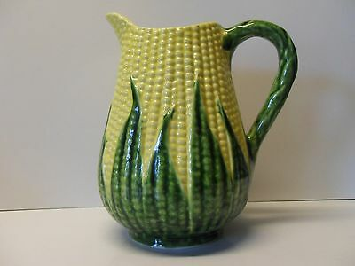 "Corn Pitcher made in Portugal by Jay Willfred, Andrea by Sadek, 7.5"" Tall, EUC"