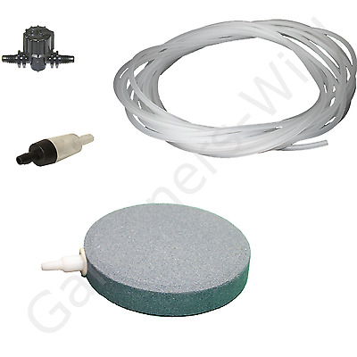 "4"" 10cm AIR STONE KIT 1x DIFFUSER +VALVE +NON RETURN +10m PIPE hydroponic pond"