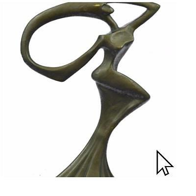 Bronze Sculpture Abstract Dancer Art Deco Figurine Sculpture