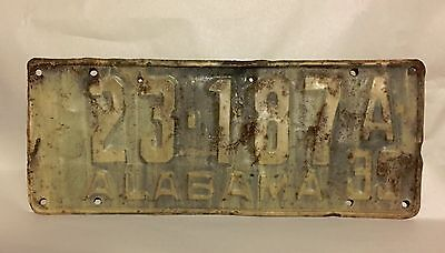 1935 ALABAMA LICENSE PLATE with extra holes