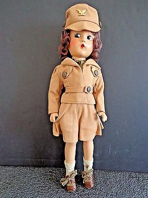 "Madame Alexander W.A.C. Military Doll in Original Outfit 14"" INV2634"