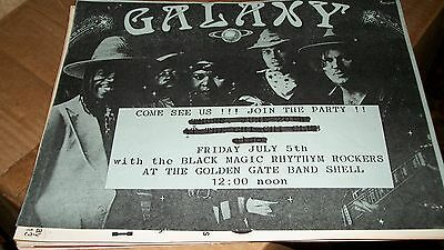 Galaxy Band, Black Magic Rhythm Rockers Gig Flyer Golden Gate Bandshell SF 1985