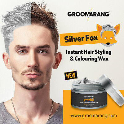 Silver Colour Grey Hair Wax Men Women Grandma Hair Ash Dye Gray Mud Temporary
