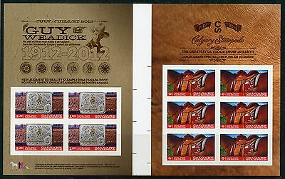 Weeda Canada 2548b VF mint NH gutter pane, 2012 Calgary Stampede issue CV $20