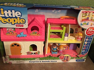 Fisher Price Little People SURPRISE & SOUNDS HOME 50+ Sounds Songs & Phrases NEW