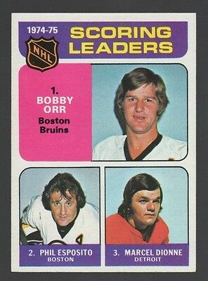 Bobby Orr Phil Esposito Marcel DIonne 1975 Topps Great Condition *MAKE AN OFFER*
